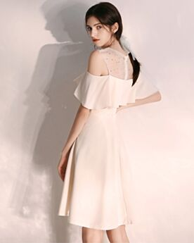Cocktail Dresses Chiffon White Skater Simple Ruffle Cute Dress For Special Occasion Short For Teens Graduation Dresses