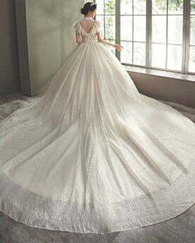 Fringe Backless Ball Gown Sparkly Sequin Luxury Choker Neck Bridal Gown Tulle