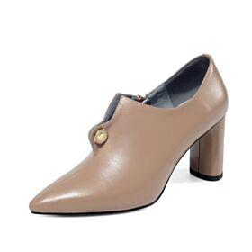 Klassiek 7 cm Hakken Enkellaarsjes Chelsea Boots