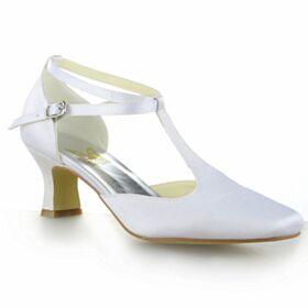 Witte Stiletto Bruidsschoenen 6 cm Heel Pumps Mooie