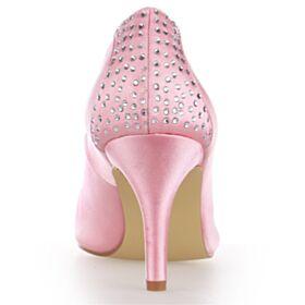 Pink 8 cm High Heel Mit Strasssteine Brautschuhe Pumps Stilettos
