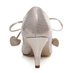 Bout Pointu Paillette Belle Chaussure De Mariée Chaussure Demoiselle D honneur Talons Aiguilles Champagne Escarpins 7 cm Talon Mid Luxe Bride Cheville