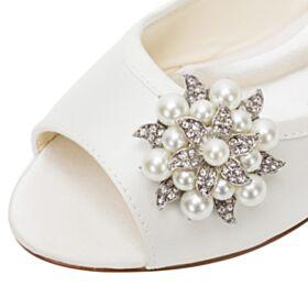 フラット エレガント 結婚 式 靴 サンダル レディース パール 4721190347F