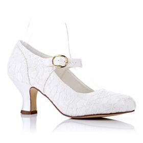 De Satin Zapatos Para Boda De Tul Tacon Medio 6 cm Zapatos Tacones Stilettos Elegantes
