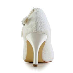 Escarpins Femmes Élégant Avec Strass 8 cm Talons Hauts Chaussure De Mariée Talons Aiguilles Blanche