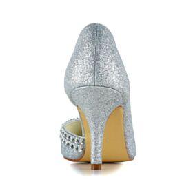 Strass Zapatos Tacon Altos 8 cm Stilettos Zapatos De Novia