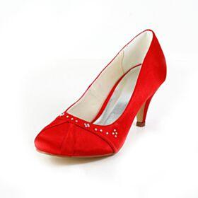 Pumps Bridesmaid Shoes Stilettos Beautiful 7 cm Mid Heels With Rhinestones