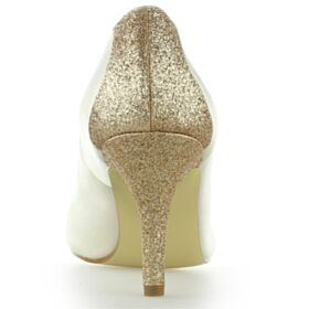 Stiletto 8 cm High Heel Glitter Bridal Shoes Pumps Bridesmaid Shoes Beautiful