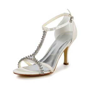 8 cm High Heels With Ankle Strap Stilettos Strappy Charming Sandals For Women Peep Toe