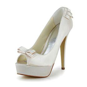 13 cm High Heels Stiletto Mooie 2020 Champagne Pumps Bruidsschoenen Peep Toe