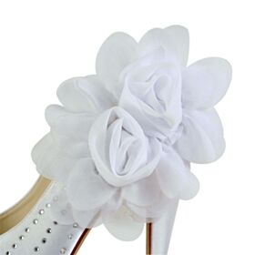 High Heel Bridal Shoes Pumps Shoes Stilettos Platform White Round Toe