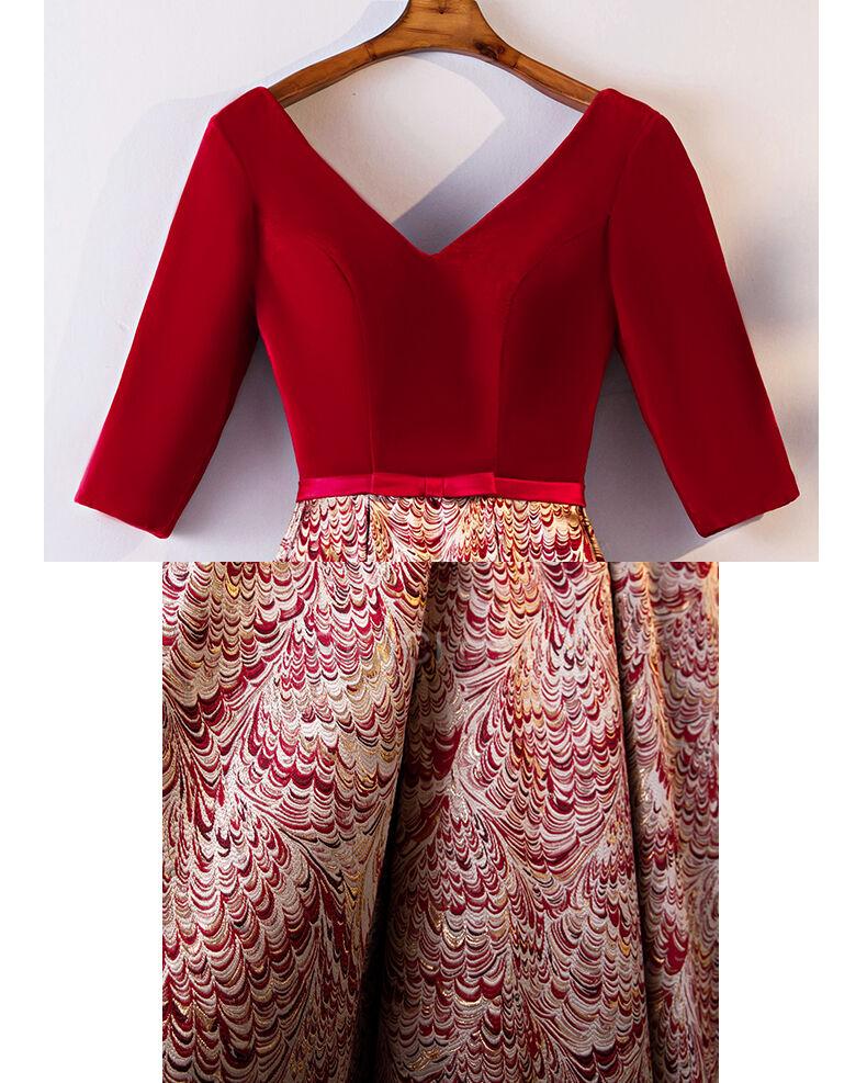 Elegante Kleider Für Festliche Lange Empire Rot Abendkleid ...