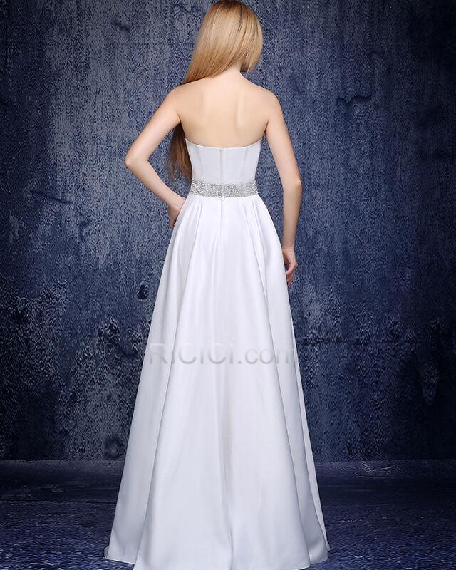 Armellos 2019 Perlen Festliche Kleider Elegante Schulterfreies Abendkleider Weiss Schlichte Empire Lange Online Kaufen 74520190515 Ricici Com