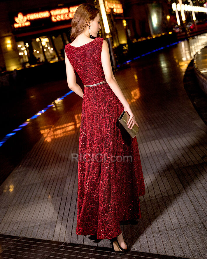 Fit N Flare Ballkleid Abendkleid Empire Spitzen Glitzer Elegante Glitzernden Online Ricici Com