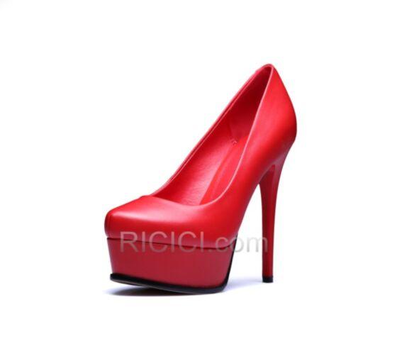 13 cm Klassisch Mit Absatz Stilettos 2018 High Heel Pumps Rot