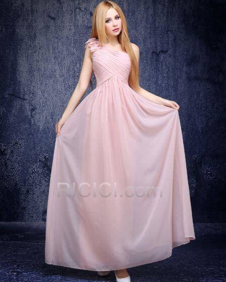 Largos Color Rosa Viejo Espalda Descubierta Plisada Vestidos Para Damas De Honor Para Bodas Vestidos Para Homecoming Vestidos Para Bodas Gasa Sencillos Vestidos De Fiesta De Noche Elegantes Imperio Juvenil