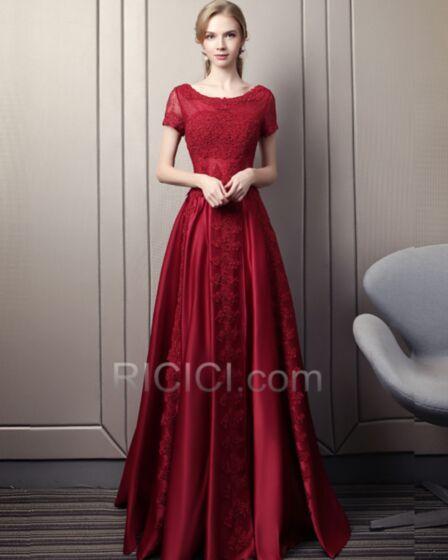 Dos Nu Robes De Soirée Évasée Robe Mère De Mariée Dentelle Printemps Robe De Bal Élégant Longue Appliques Modeste