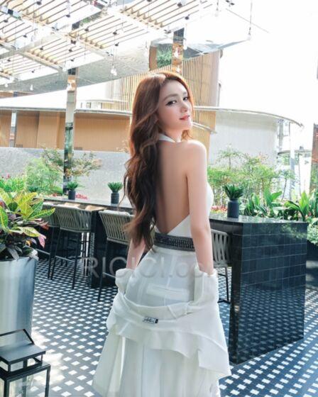 Travail Licou Dos Nu Maxi Pantalon Taille Haute Combinaison Mousseline Cigarette Portefeuille Ete Avec Manteau Blanche