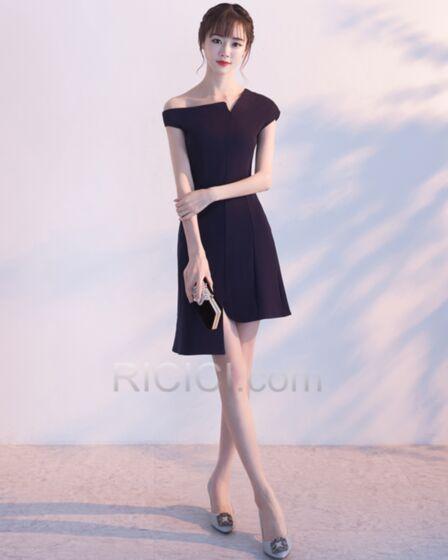 Corti Little Black Dress Nere Raso Sensuali Vestito