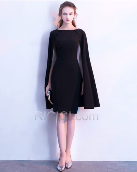 Abiti Cerimonia Di Raso Peplo Neri Corti Tubino Little Black Dress