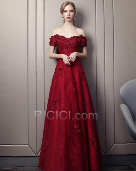 Galajurken Elegante Applique Kanten Bruidsmeisjes Jurken Avondjurk Open Rug Empire Korte Mouw