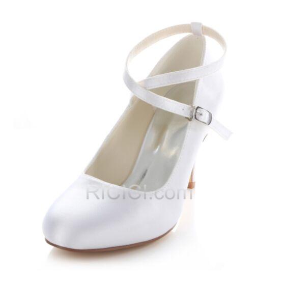 Hakken High Heels Stiletto Pumps Runtige Neus Bruidsmeisjes Jurk Trouwschoenen Witte 8 cm