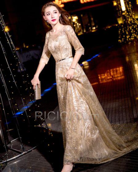 Weihnachtskleid Pailletten Ballkleid Elegante Galakleid Festliche Kleider Fit N Flare Abendkleider Glitzernden