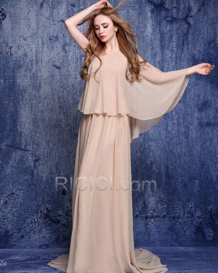 Festliche Kleider One Shoulder Abendkleider Gerade Kleider Hochzeitsgäste Brautmutterkleid Mit Schleppe Modest Chiffon
