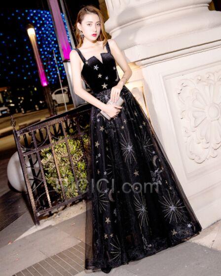 新年 会 ドレス ジュニア ブラック 深 v ネック パーティー ドレス バックレス フレア プロムドレス サテン 可愛い 56020181206