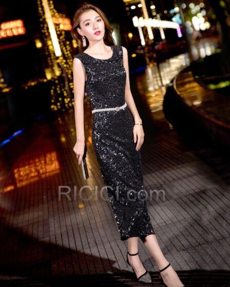 カクテル ドレス ジュニア ブラック キラキラ スパンコール セミ フォーマル ドレス ノースリーブ 81420181207