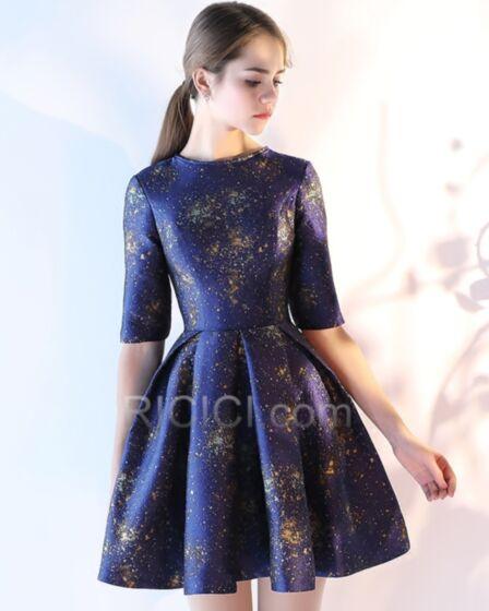 ブルー ジュニア ミニ パーティー ドレス 花 柄 カクテル ドレス フレア 86220180925